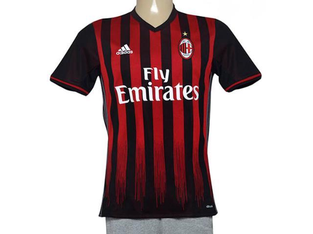 Camiseta Masculina Adidas Ap7964 Milan i Marrom/vermelho