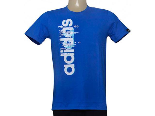 Camiseta Masculina Adidas Ay7180 Ess Linear Azul