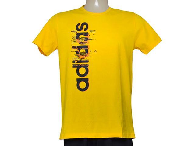 Camiseta Masculina Adidas Ay7179 Ess Linear Amarelo