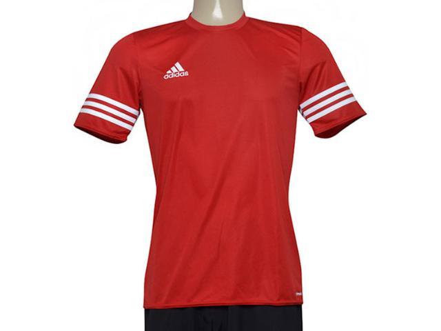 Camiseta Masculina Adidas Bh6910 Entrada 14 Vermelho