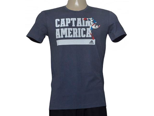Camiseta Masculina Adidas Ay7186 Captain America Chumbo