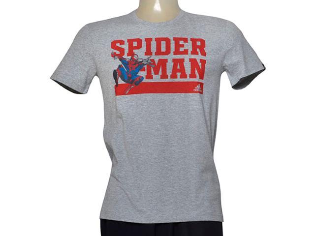 Camiseta Masculina Adidas Ay7188 Spider Man Cinza