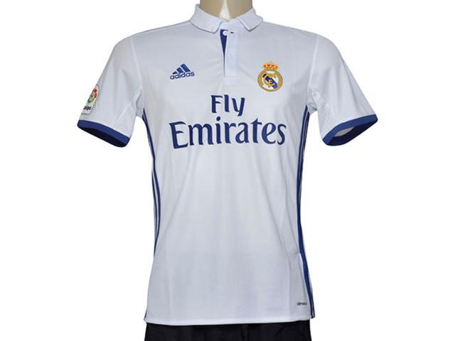 Camiseta Masculina Adidas S94992 Real Madri i Branco/marinho