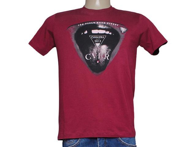 Camiseta Masculina Cavalera Clothing 01.01.7518 Burgundy