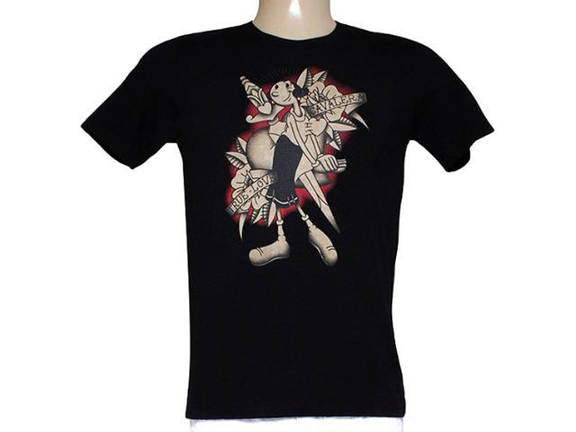 Camiseta Masculina Cavalera Clothing 01.01.7842 Preto