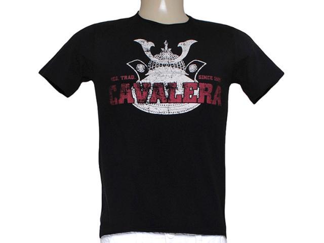 Camiseta Masculina Cavalera Clothing 01.01.7456 Preto