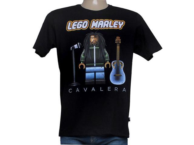 Camiseta Masculina Cavalera Clothing 01.01.8139 Lego Marley Preto