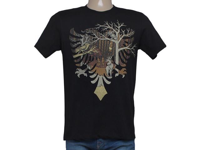 Camiseta Masculina Cavalera Clothing 01.01.8264 Aguia Preto