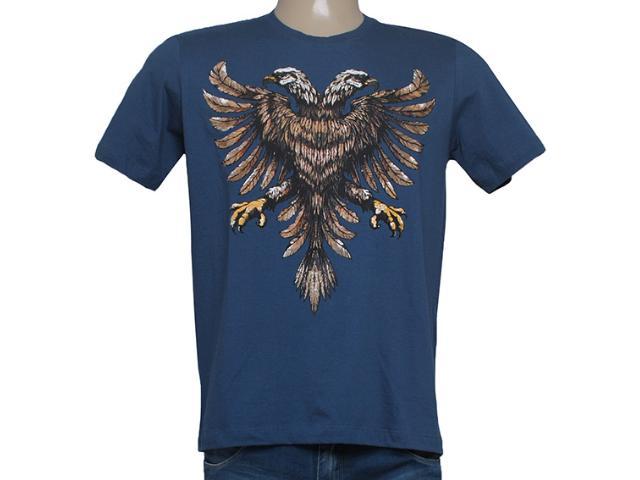 Camiseta Masculina Cavalera Clothing 01.01.8259 Aguia Real Azul Escuro