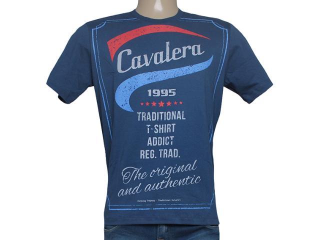 Camiseta Masculina Cavalera Clothing 01.01.8135 Azul Escuro