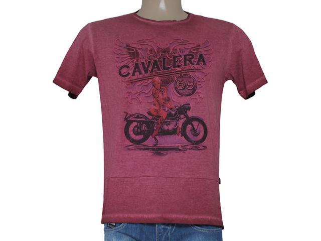 Camiseta Masculina Cavalera Clothing 01.01.8202 Motorcicl Bordo Estonado