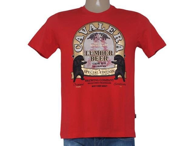 Camiseta Masculina Cavalera Clothing 01.01.8186 Vermelho