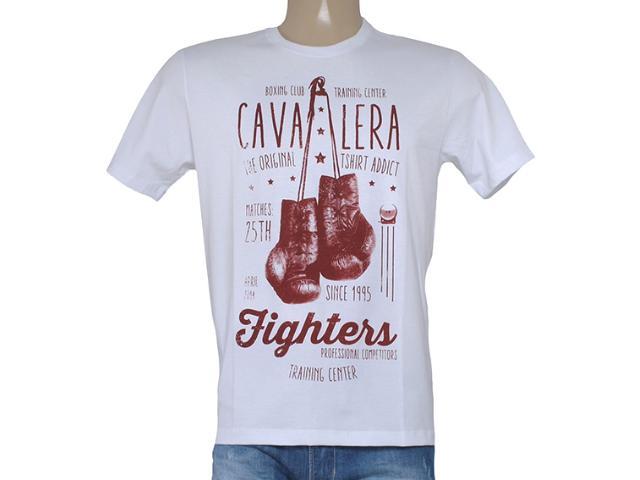 Camiseta Masculina Cavalera Clothing 01.01.8132 Branco