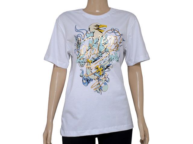 Camiseta Masculina Cavalera Clothing 01.01.8214 Falcon Branco