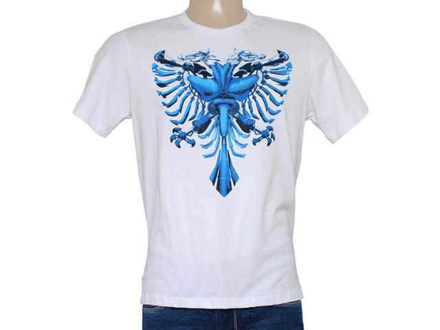 Camiseta Masculina Cavalera Clothing 01.01.8155 Aguia Transformer Branco