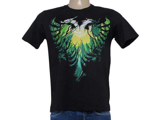 Camiseta Masculina Cavalera Clothing 01.01.8243 Aguia Arvores Preto