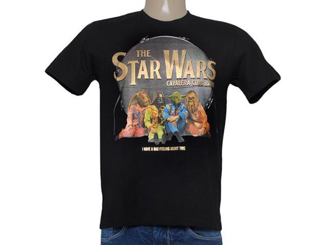 Camiseta Masculina Cavalera Clothing 01.01.8146 Star Whars Preto