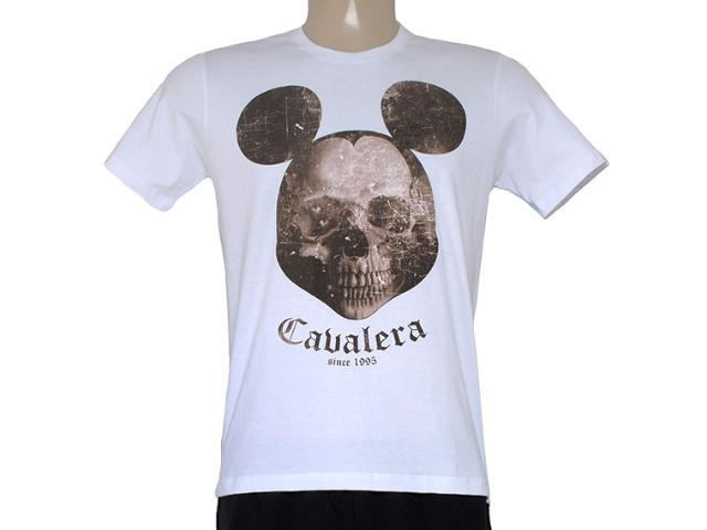 Camiseta Masculina Cavalera Clothing 01.01.8133 Caveira Mikey Branco