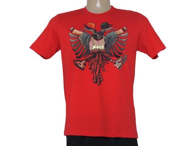 Camiseta Masculina Cavalera Clothing 01.01.8409 Aguia Vermelho