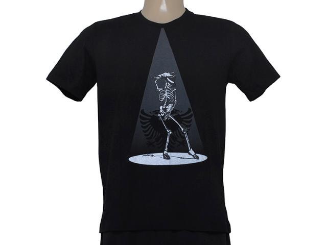 Camiseta Masculina Cavalera Clothing 01.01.8321 Preto