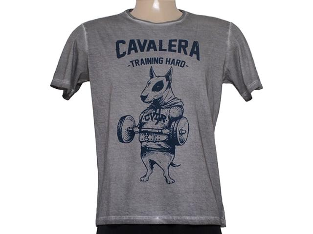 Camiseta Masculina Cavalera Clothing 01.01.8312 Cinza Estonado