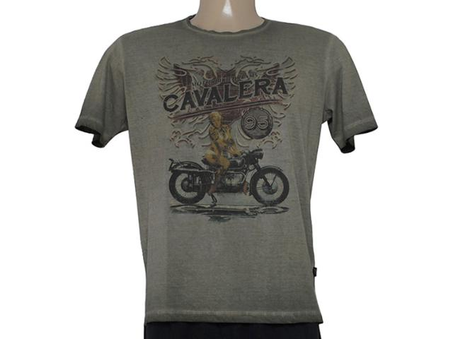 Camiseta Masculina Cavalera Clothing 01.01.8202 Motorcicle Militar