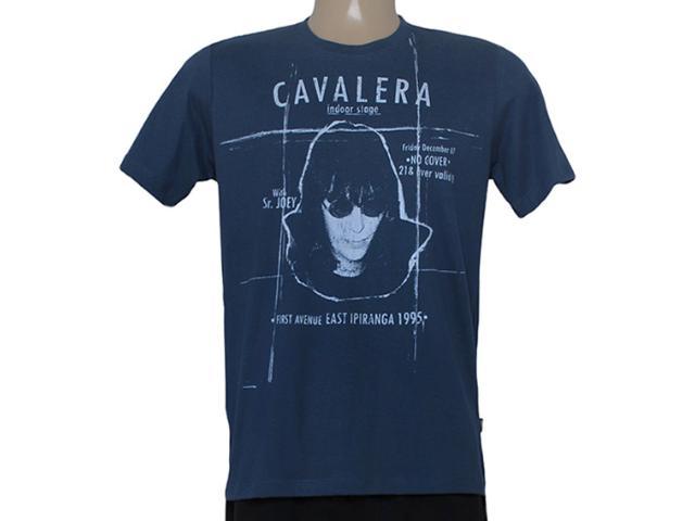 Camiseta Masculina Cavalera Clothing 01.01.8348 Ramone Azul Escuro