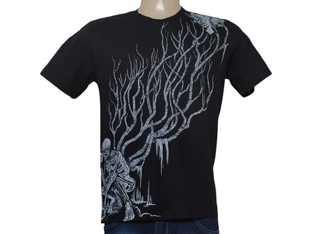 Camiseta Masculina Cavalera Clothing 01.01.8284 Preto