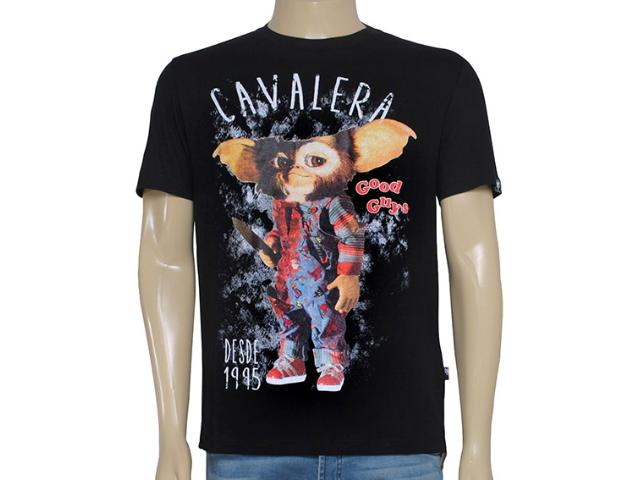 Camiseta Masculina Cavalera Clothing 01.01.8650 Preto