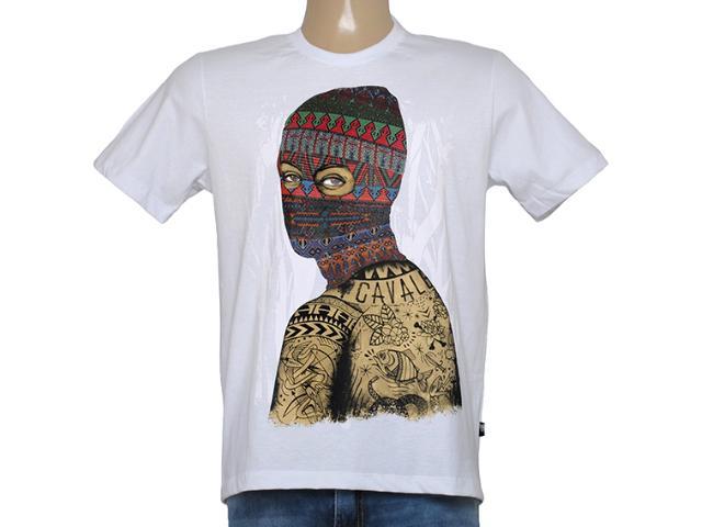 Camiseta Masculina Cavalera Clothing 01.01.8627 Branco