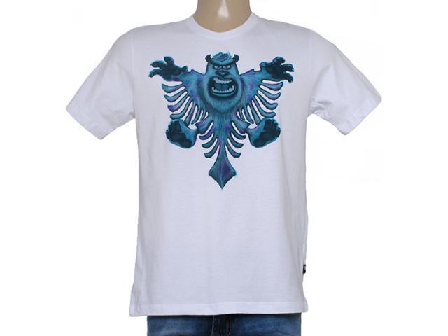 Camiseta Masculina Cavalera Clothing 01.01.8661 Branco
