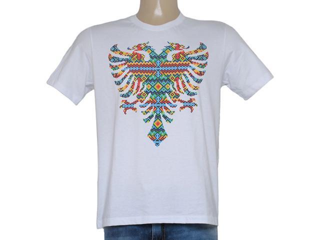 Camiseta Masculina Cavalera Clothing 01.01.8616 Branco