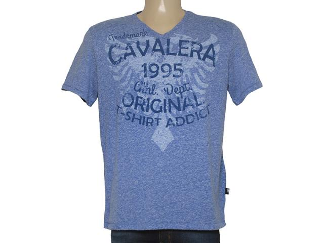 Camiseta Masculina Cavalera Clothing 01.01.8648 Azul Royal Estonado