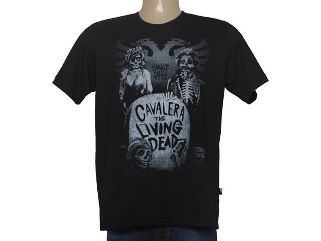 Camiseta Masculina Cavalera Clothing 01.01.8658 Preto