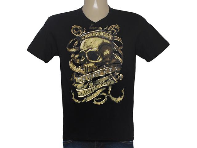 Camiseta Masculina Cavalera Clothing 01.01.8552 Preto