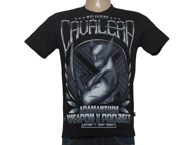 Camiseta Masculina Cavalera Clothing 01.01.8457 Preto