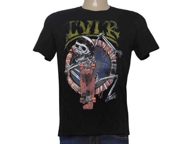Camiseta Masculina Cavalera Clothing 01.01.8624 Preto
