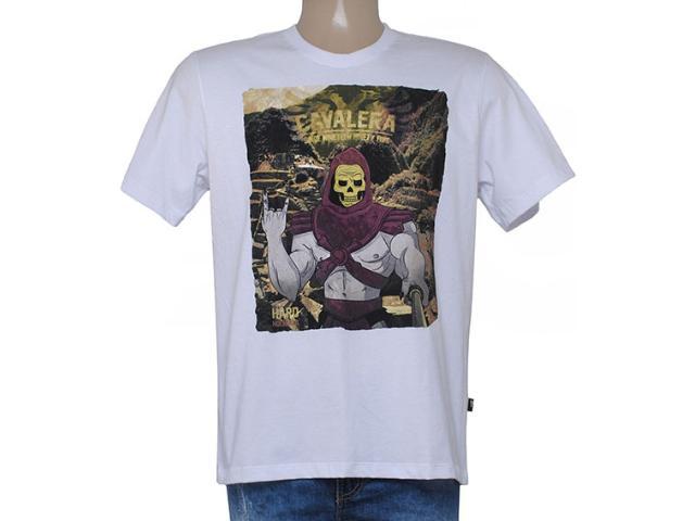 Camiseta Masculina Cavalera Clothing 01.01.8628 Branco