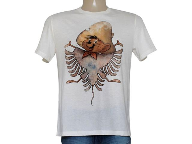 Camiseta Masculina Cavalera Clothing 01.01.8634 Off White