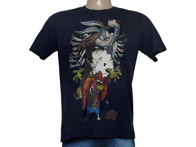 Camiseta Masculina Cavalera Clothing 01.01.8512 Marinho