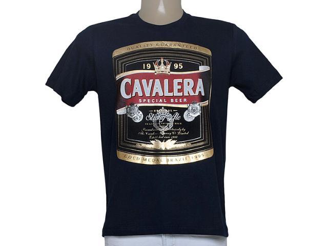 Camiseta Masculina Cavalera Clothing 01.01.8769 Marinho