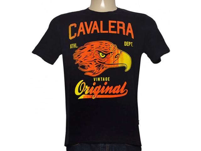 Camiseta Masculina Cavalera Clothing 01.01.8712 Preto