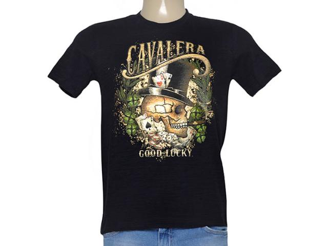 Camiseta Masculina Cavalera Clothing 01.01.8897 Preto