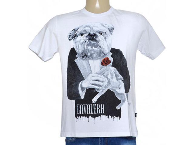 Camiseta Masculina Cavalera Clothing 01.01.8941 Branco