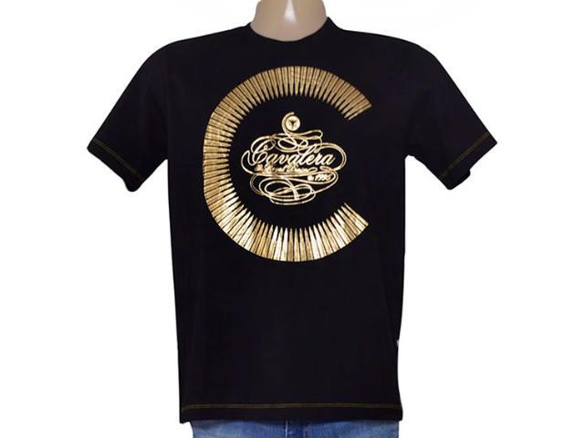 Camiseta Masculina Cavalera Clothing 01.01.9109 Preto
