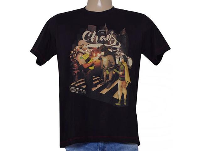 Camiseta Masculina Cavalera Clothing 01.01.9053 Preto