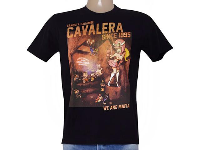 Camiseta Masculina Cavalera Clothing 01.01.8902 Preto