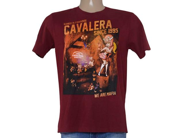 Camiseta Masculina Cavalera Clothing 01.01.8902 Vermelho