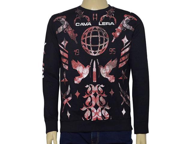 Camiseta Masculina Cavalera Clothing 01.02.0699 Preto