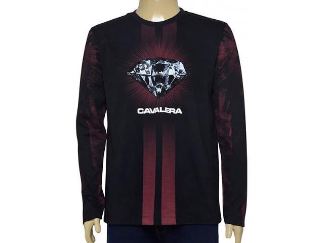 Camiseta Masculina Cavalera Clothing 01.02.0717 Preto